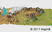 "Satellite Panoramic Map of the area around 44°2'4""S,170°55'30""E"
