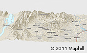 """Shaded Relief Panoramic Map of the area around 44°2'4""""S,170°55'30""""E"""