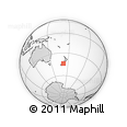 Outline Map of Ruapuna, rectangular outline