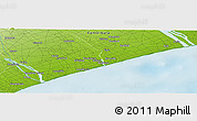 """Physical Panoramic Map of the area around 44°2'4""""S,171°46'30""""E"""