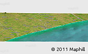 "Satellite Panoramic Map of the area around 44° 2' 4"" S, 171° 46' 30"" E"