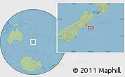 "Savanna Style Location Map of the area around 44°2'4""S,173°28'29""E"