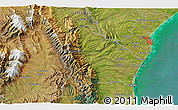 """Satellite 3D Map of the area around 44°27'46""""S,170°55'30""""E"""