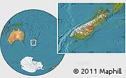 "Satellite Location Map of the area around 44°27'46""S,170°55'30""E"