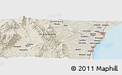 """Shaded Relief Panoramic Map of the area around 44°27'46""""S,170°55'30""""E"""