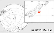 """Blank Location Map of the area around 44°27'46""""S,172°37'30""""E"""