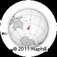 "Outline Map of the Area around 44° 27' 46"" S, 172° 37' 30"" E, rectangular outline"