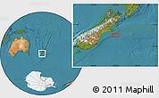 "Satellite Location Map of the area around 44°27'46""S,173°28'29""E"