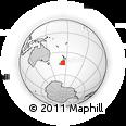 "Outline Map of the Area around 44° 27' 46"" S, 173° 28' 29"" E, rectangular outline"