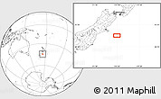 """Blank Location Map of the area around 44°27'46""""S,174°19'29""""E"""