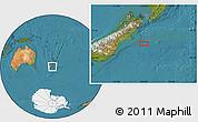"Satellite Location Map of the area around 44°27'46""S,174°19'29""E"