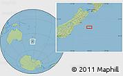 "Savanna Style Location Map of the area around 44°27'46""S,174°19'29""E"