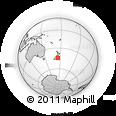 "Outline Map of the Area around 44° 27' 46"" S, 175° 10' 30"" E, rectangular outline"