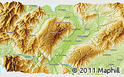"""Physical 3D Map of the area around 44°53'21""""S,169°13'29""""E"""