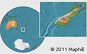 "Satellite Location Map of the area around 44°53'21""S,169°13'29""E"