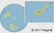 "Savanna Style Location Map of the area around 44°53'21""S,169°13'29""E"