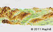 """Physical Panoramic Map of the area around 44°53'21""""S,169°13'29""""E"""