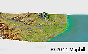"Satellite Panoramic Map of the area around 44° 53' 21"" S, 170° 55' 30"" E"