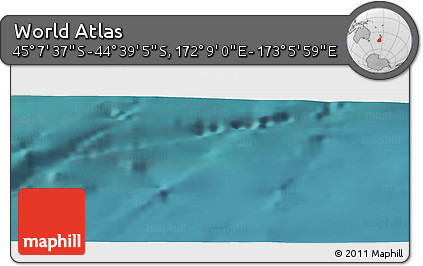 "Satellite Panoramic Map of the Area around 44°53'21""S,172°37'30""E"