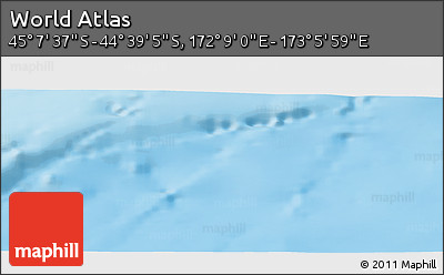 """Shaded Relief Panoramic Map of the Area around 44°53'21""""S,172°37'30""""E"""
