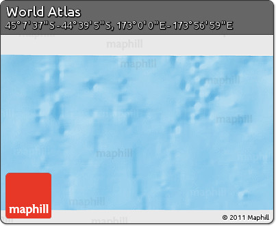 """Physical 3D Map of the Area around 44°53'21""""S,173°28'29""""E"""