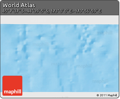 """Shaded Relief 3D Map of the Area around 44°53'21""""S,173°28'29""""E"""