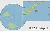 "Savanna Style Location Map of the area around 44°53'21""S,173°28'29""E"