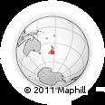 "Outline Map of the Area around 44° 53' 21"" S, 175° 10' 30"" E, rectangular outline"
