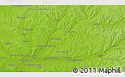 """Physical 3D Map of the area around 45°10'22""""N,0°4'30""""E"""