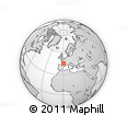 """Outline Map of the Area around 45° 10' 22"""" N, 0° 4' 30"""" E, rectangular outline"""