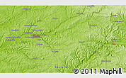 """Physical 3D Map of the area around 45°10'22""""N,0°55'29""""E"""