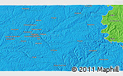 """Political 3D Map of the area around 45°10'22""""N,0°55'29""""E"""