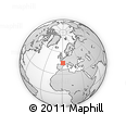 Outline Map of Périgueux, rectangular outline