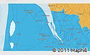 Political 3D Map of Mirambeau