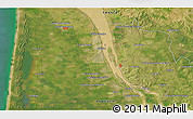 Satellite 3D Map of Mirambeau