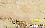 "Satellite Map of the area around 45°10'22""N,100°22'30""E"