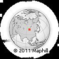 Outline Map of Horiult, rectangular outline