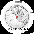 Outline Map of Ukiah, rectangular outline