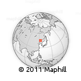 Outline Map of Manchurian and Mongolian Monument, rectangular outline