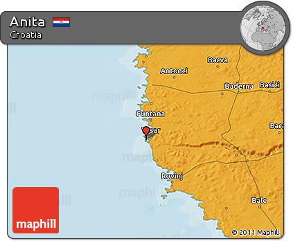 Political 3D Map of Anita
