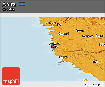 Political Panoramic Map of Anita