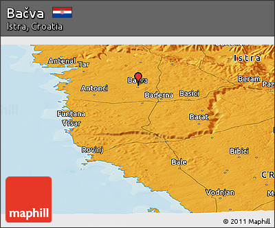 Political Panoramic Map of Bačva