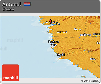 Political Panoramic Map of Antenal