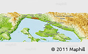 Physical Panoramic Map of Čižići