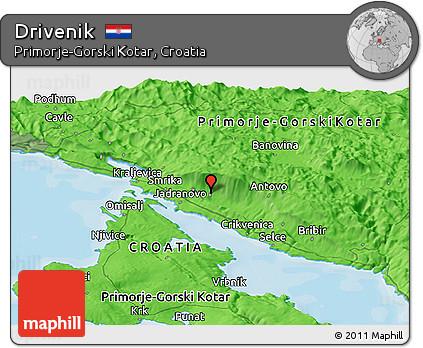 Political Panoramic Map of Drivenik