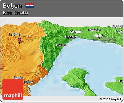 Political Panoramic Map of Boljun