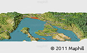 Satellite Panoramic Map of Čižići