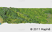 "Satellite Panoramic Map of the area around 45° 10' 22"" N, 15° 22' 30"" E"