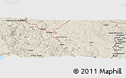 Shaded Relief Panoramic Map of Brinje