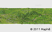 Satellite Panoramic Map of Bratića Brdo
